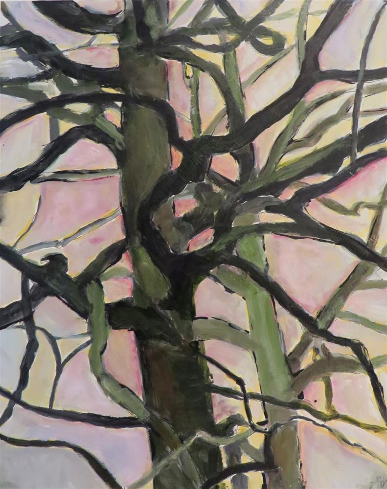 """634 Two Mighty Oaks"" original fine art by Diane Campion"