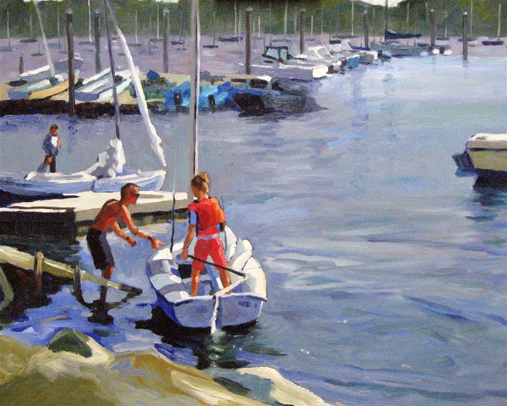 """Padnaram Boats"" original fine art by Jini James"