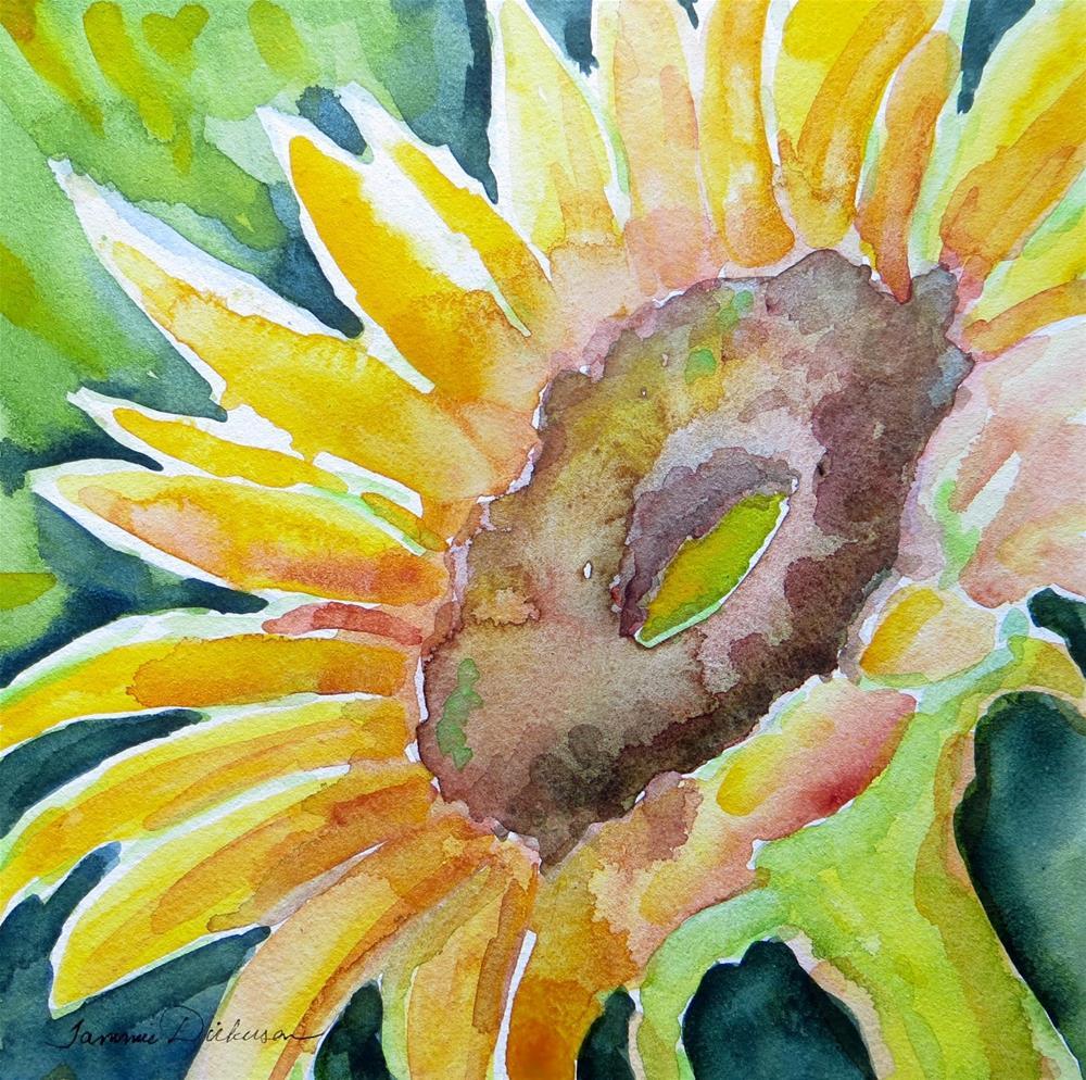 """Sunflower Study"" original fine art by Tammie Dickerson"