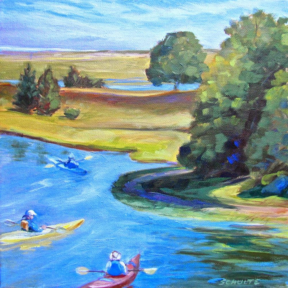 """""""Ready to Paddle Out"""" original fine art by Lynne Schulte"""