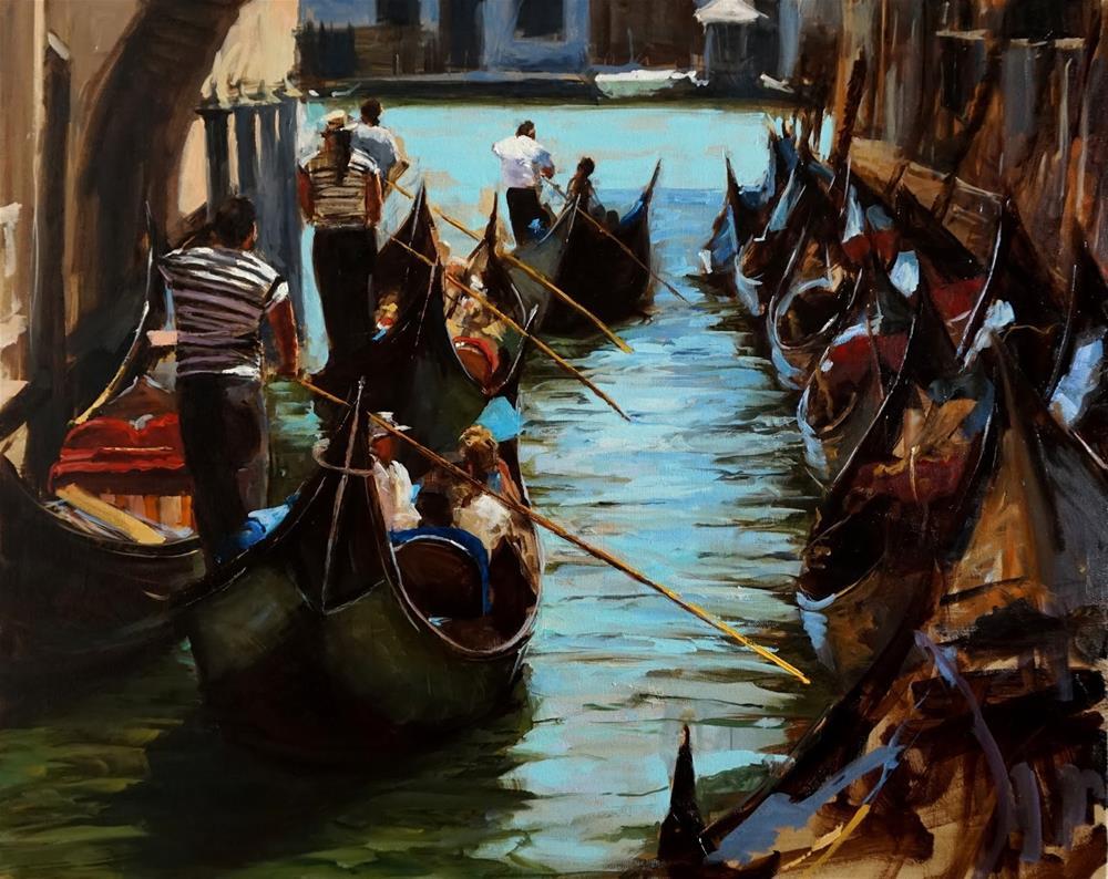 """""""Venetian Tour II"""" original fine art by Jonelle Summerfield"""
