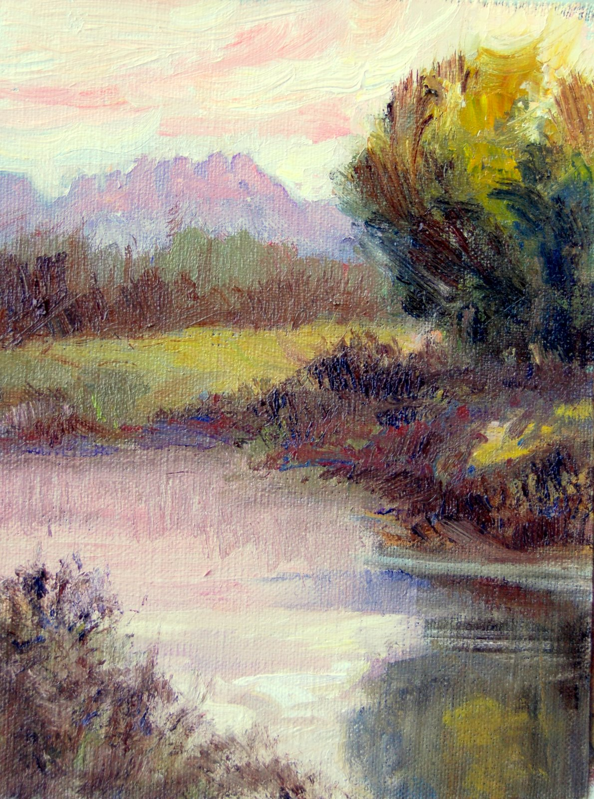 """""""Early Evening Glow"""" original fine art by Julie Ford Oliver"""