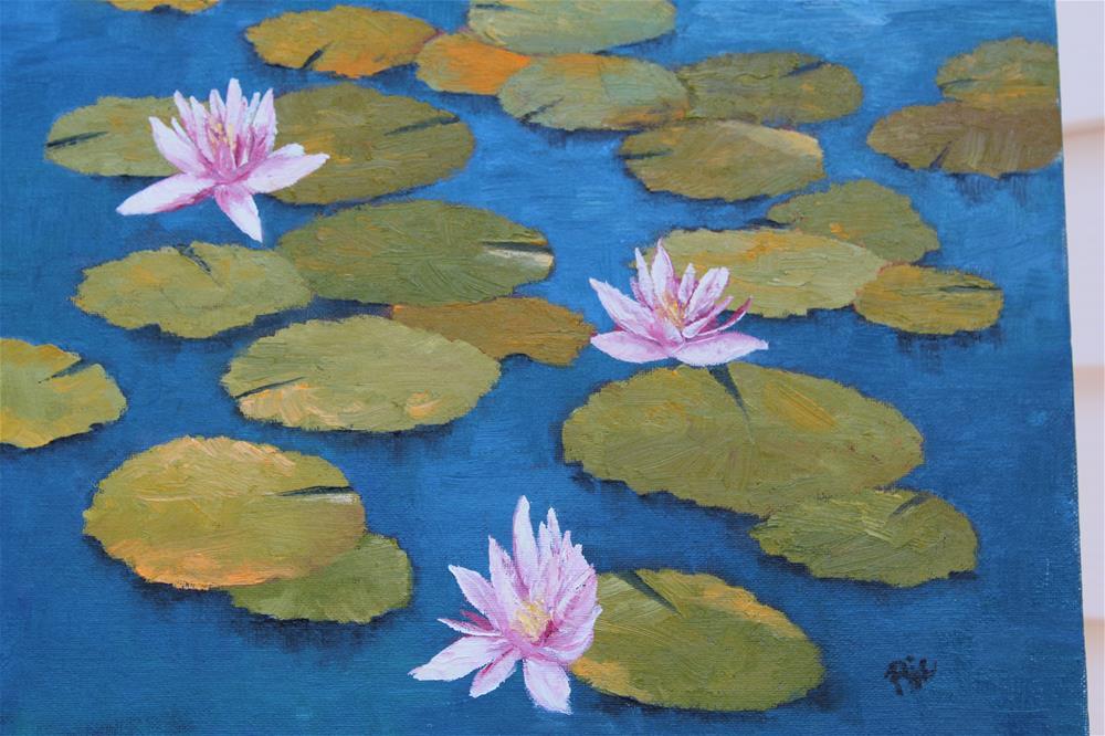 """Monet's Lily Pony"" original fine art by Maria Reed"
