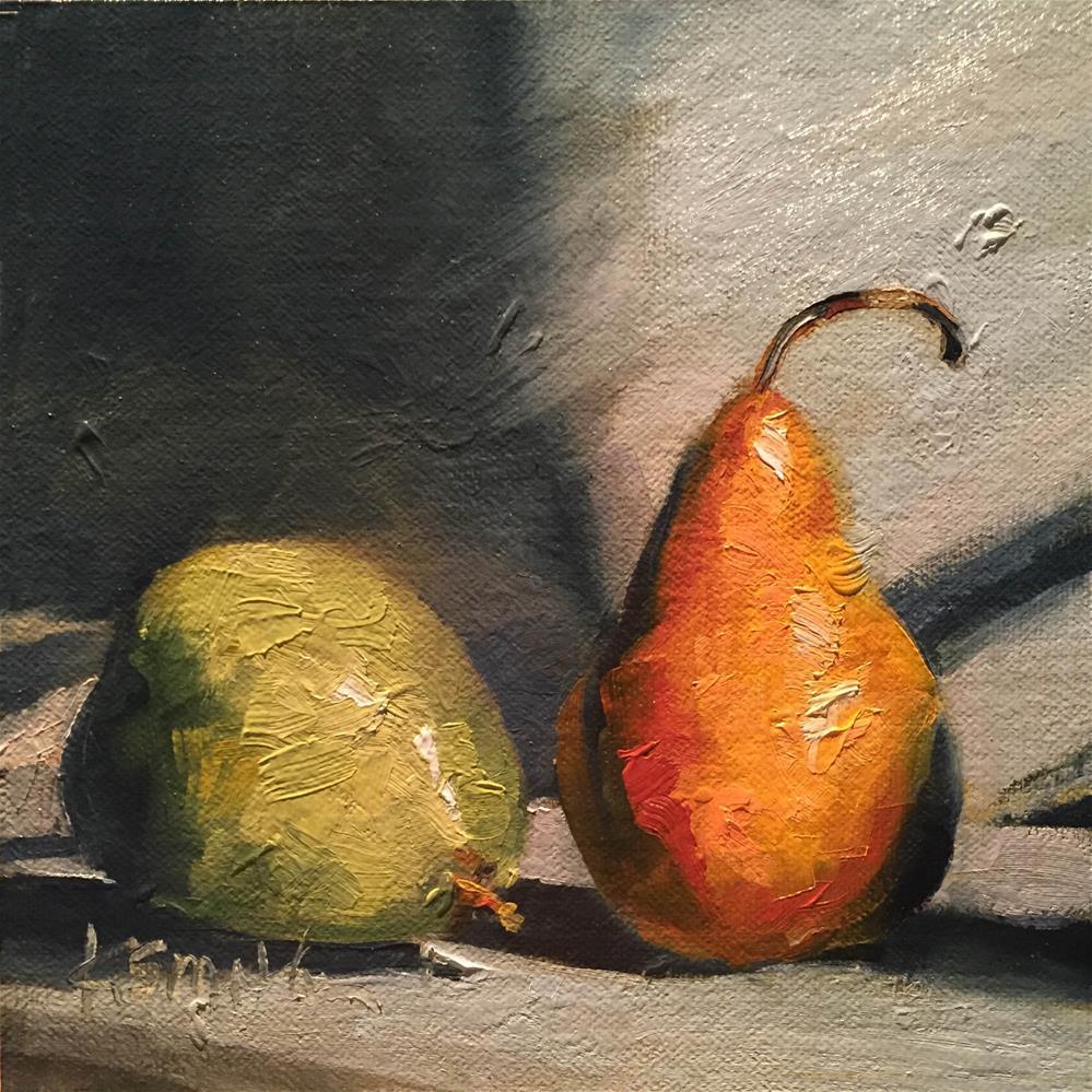 """great pear"" original fine art by Kim Smith"