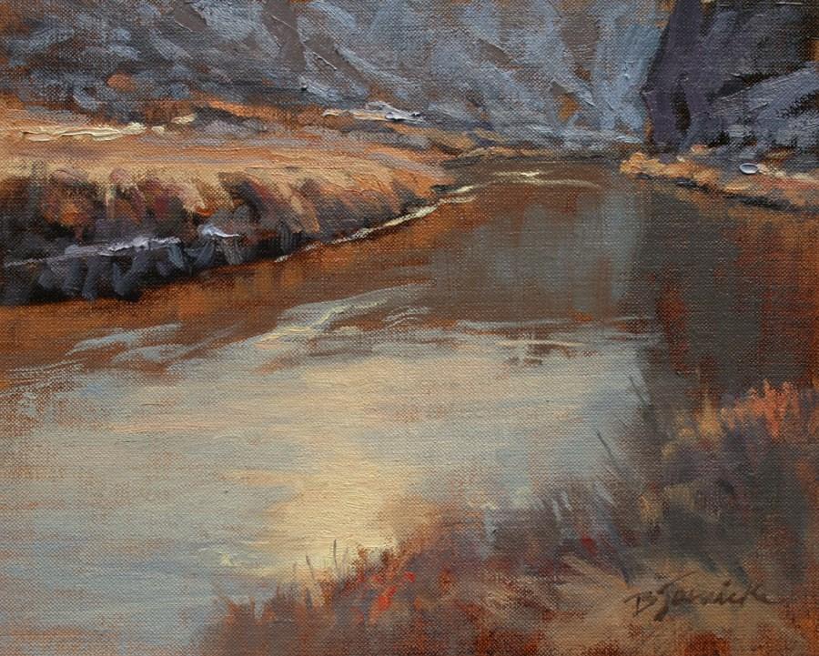 """Along Quiet Water"" original fine art by Barbara Jaenicke"