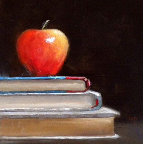 """After School Stack"" original fine art by Darla McDowell"