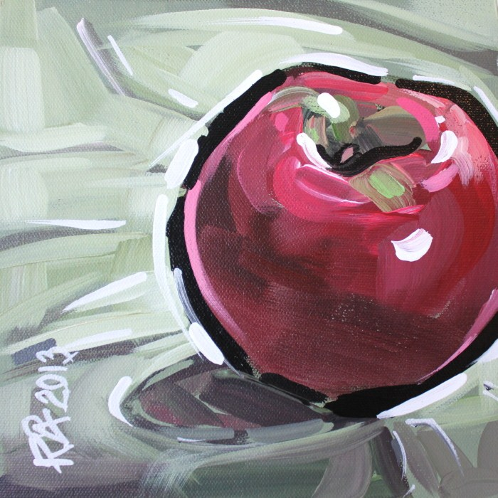 """Apple Abstraction 17"" original fine art by Roger Akesson"