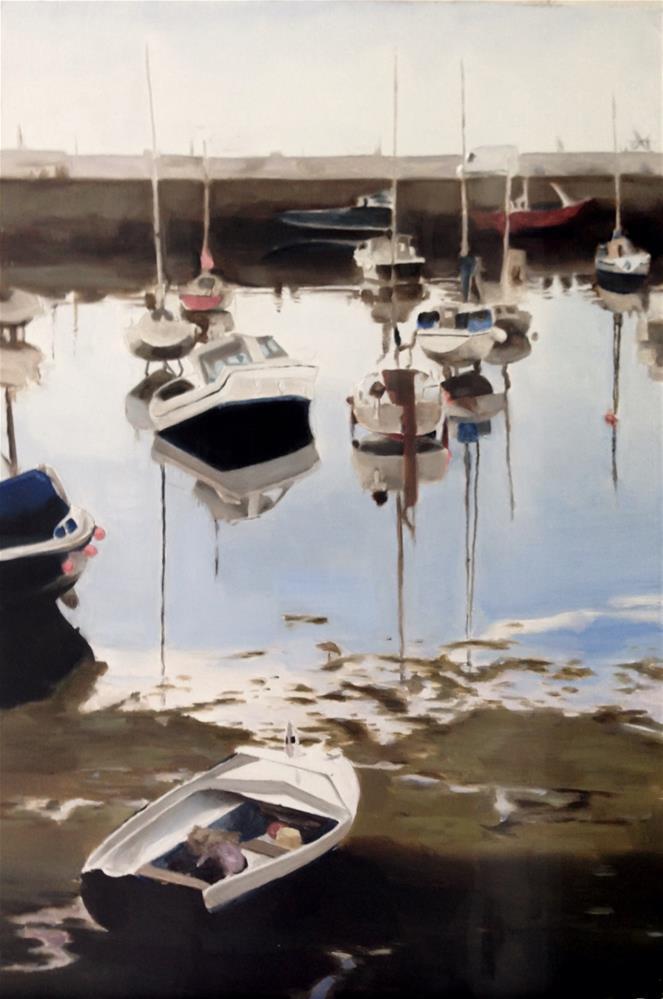 """""""Penzance Harbour"""" original fine art by James Coates"""