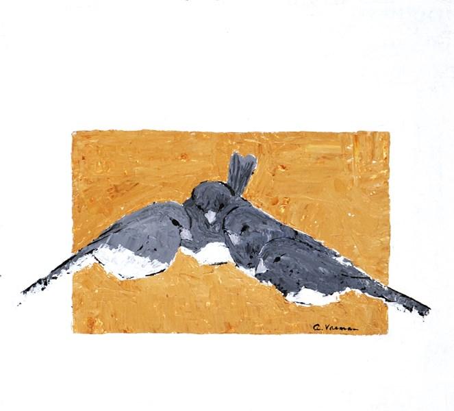 """""""Juncos"""" original fine art by Anna Vreman"""