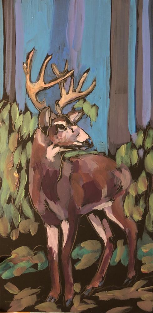 """Misty Morning Walker"" original fine art by Kat Corrigan"