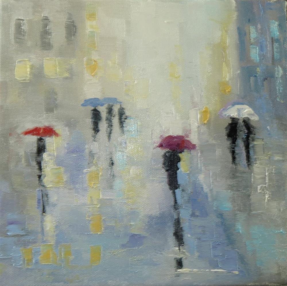 """""""umbrellas"""" original fine art by Astrid Buchhammer"""