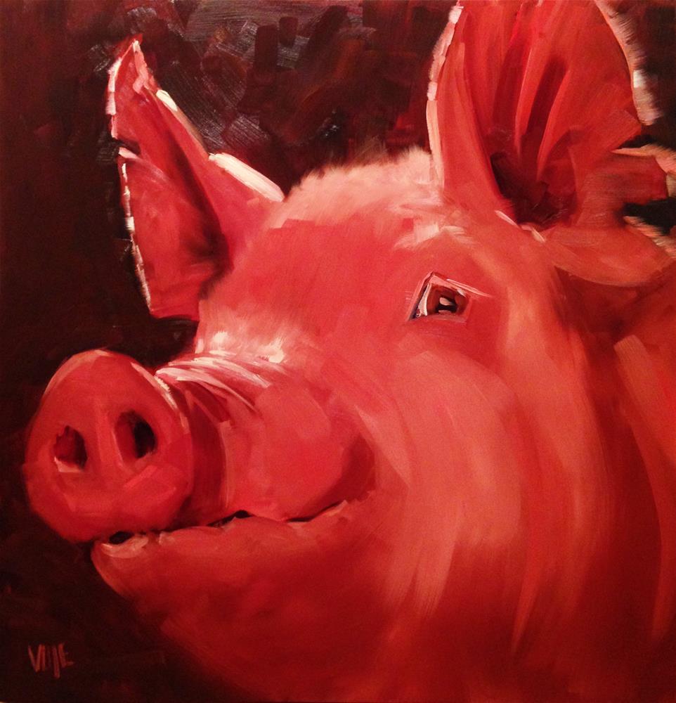 """#235 Big Ham"" original fine art by Patty Voje"