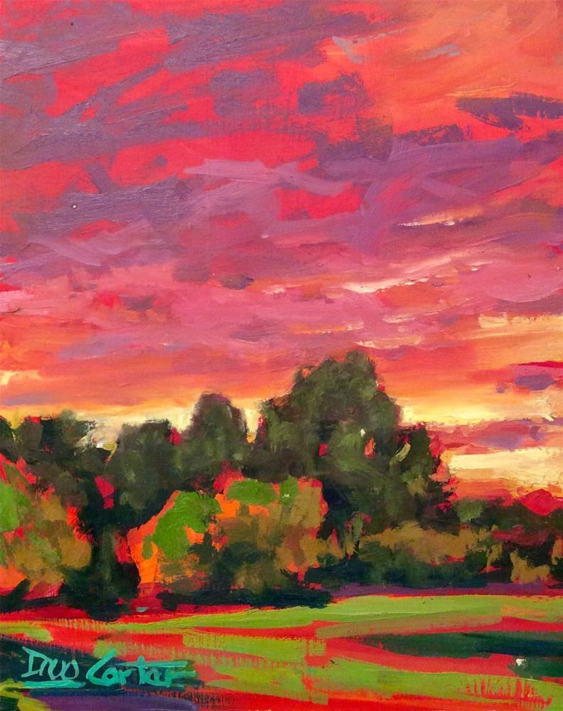 """ RED HOT "" original fine art by Doug Carter"