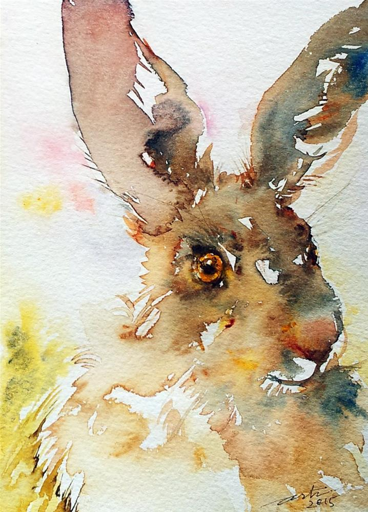 """Spring Hare"" original fine art by Arti Chauhan"