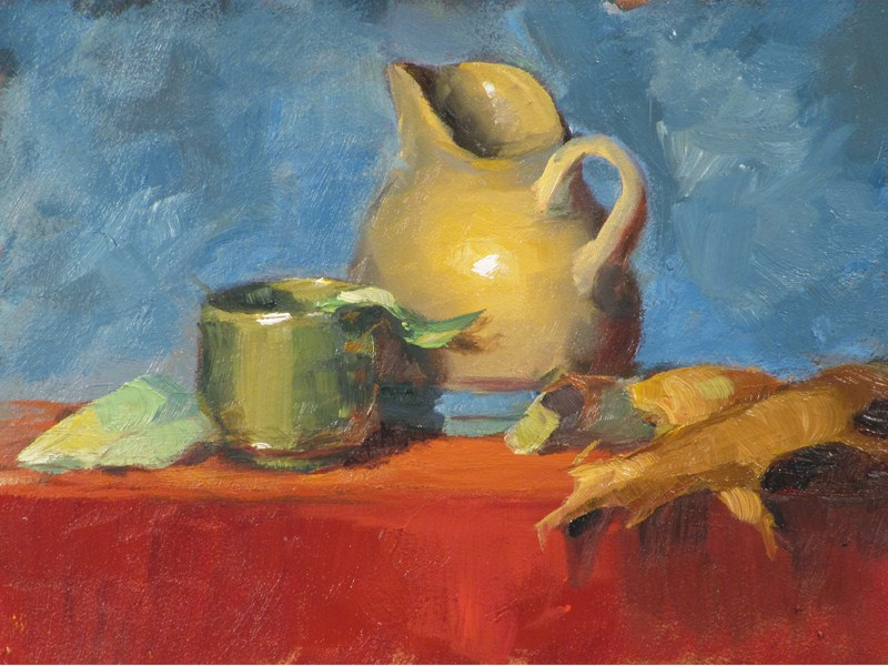 """""""Creamer and sake cup"""" original fine art by Dave Froude"""