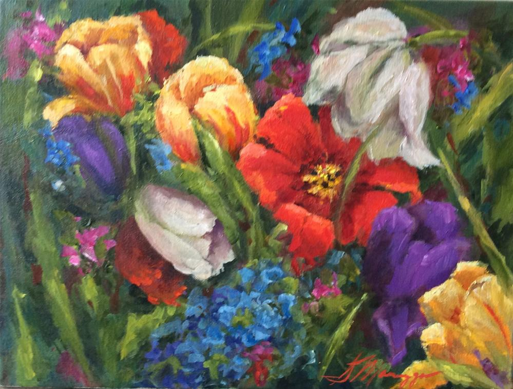 """""""Spring Fling"""" original fine art by Susie Monzingo"""