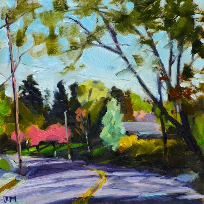 """Morning on Cleveland Drive No. 2"" original fine art by Jessica Miller"