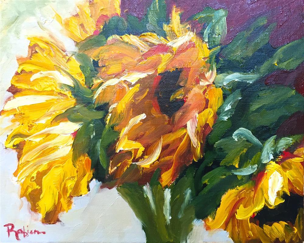 """""""Sunflower Power"""" original fine art by Renee Robison"""