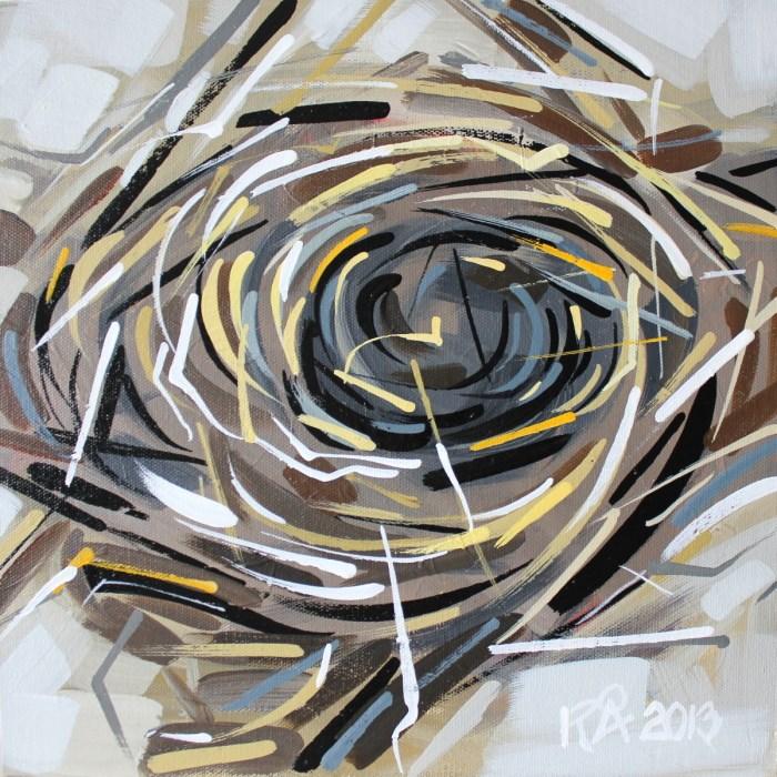 """Bird's Nest abstraction 1"" original fine art by Roger Akesson"
