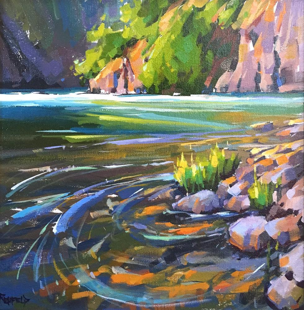 """Punchbowl Canyon 12x12"" original fine art by Cathleen Rehfeld"