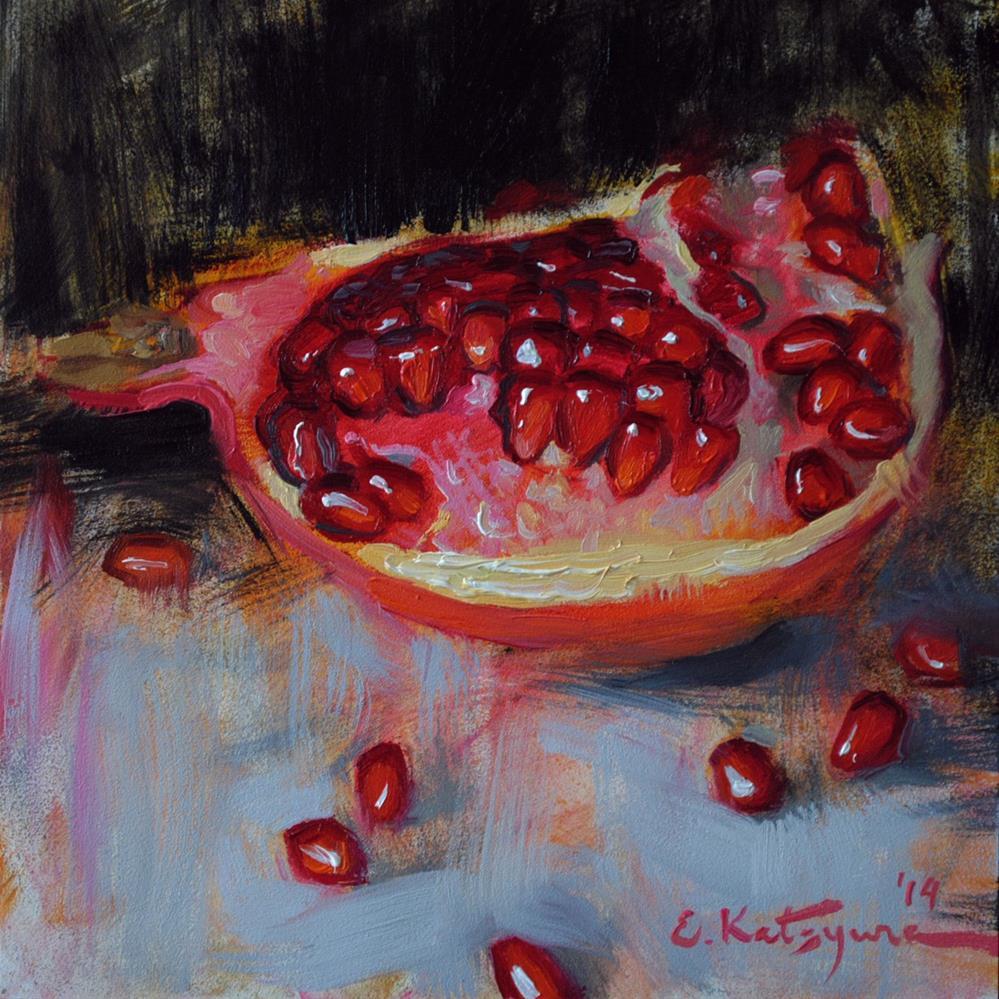 """Red Delight"" original fine art by Elena Katsyura"