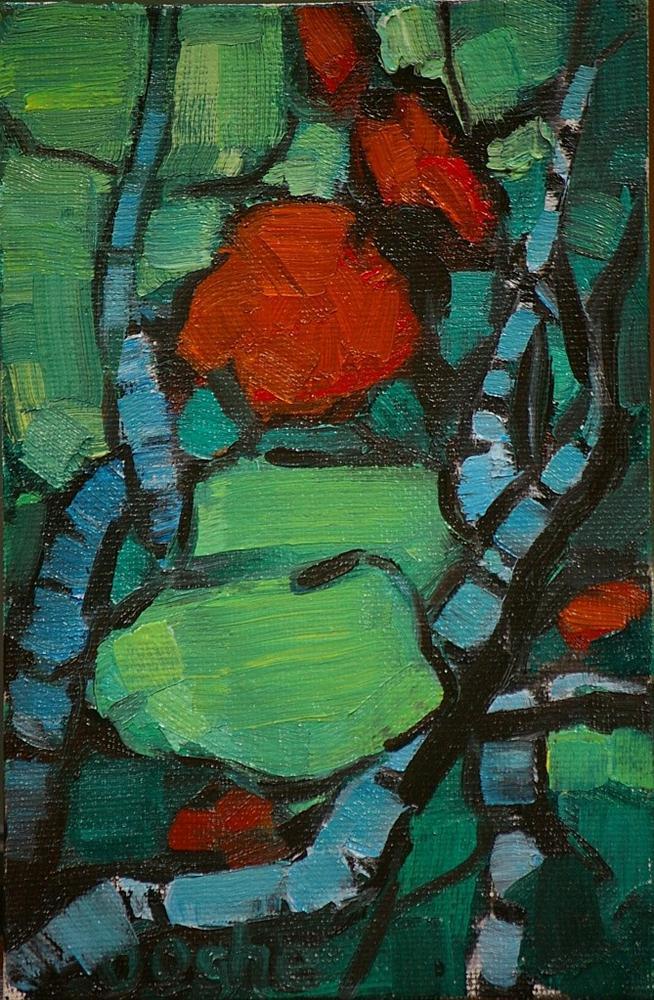 """Geranium"" original fine art by Angela Ooghe"