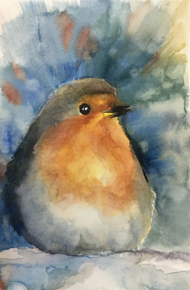 """A bird"" original fine art by Natasha Ramras"