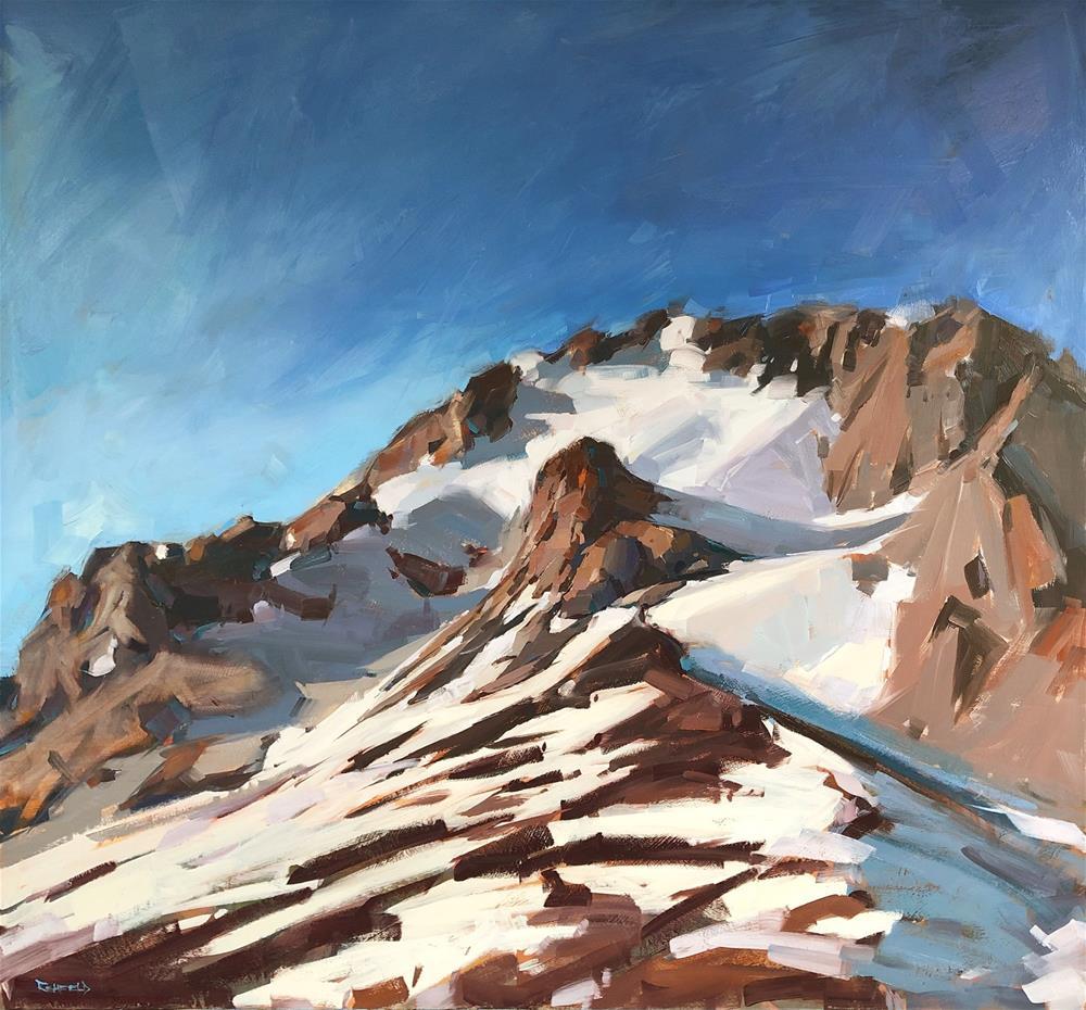 """""""Mt Hood for Rental Sales Gallery"""" original fine art by Cathleen Rehfeld"""