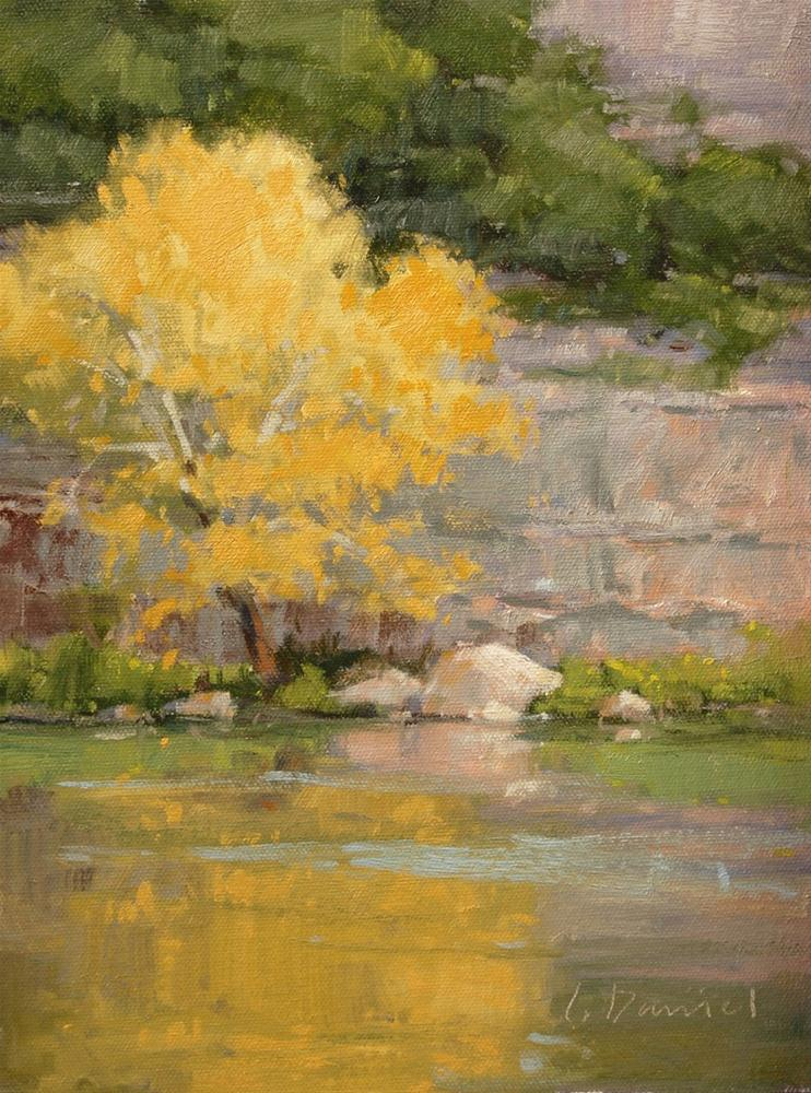 """Morning on the River - Kerrville Outdoor Painting Event"" original fine art by Laurel Daniel"