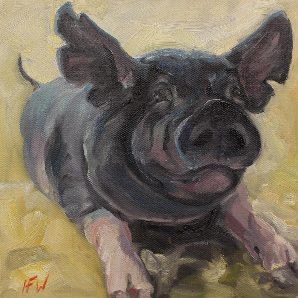"""""""This Little Piggy"""" original fine art by H.F. Wallen"""