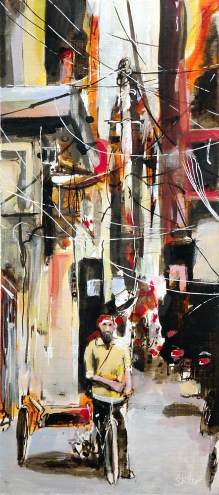 """2780 Rickshaw Rickshaw"" original fine art by Dietmar Stiller"