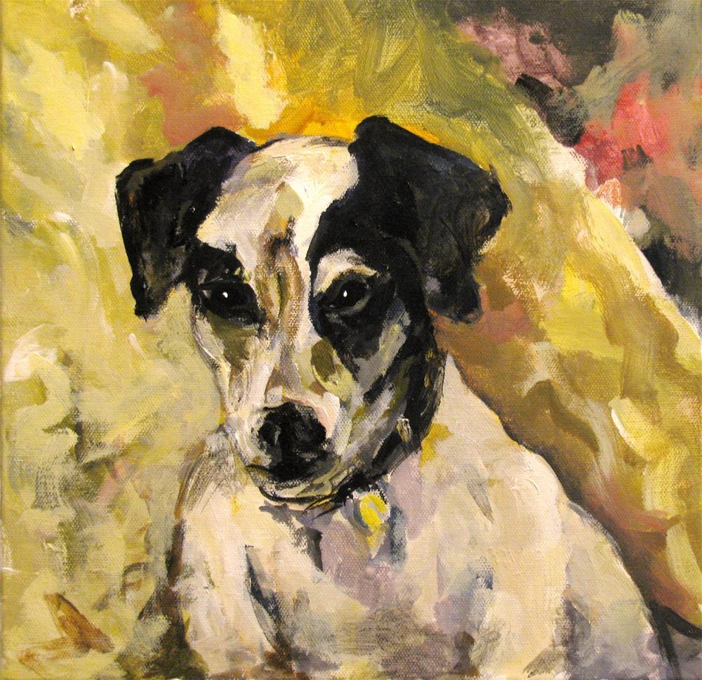 """""""Study of Sorolla's Portrait of a Jack Russell"""" original fine art by Susan Elizabeth Jones"""