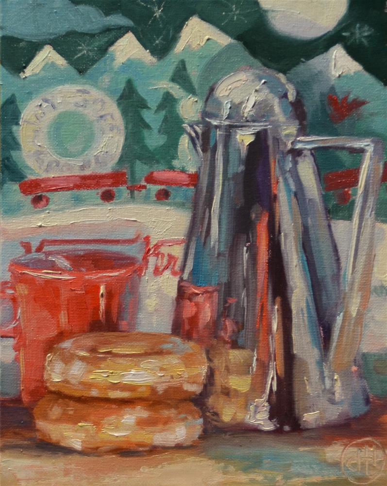"""""""off to a sweet start"""" original fine art by Dottie  T  Leatherwood"""