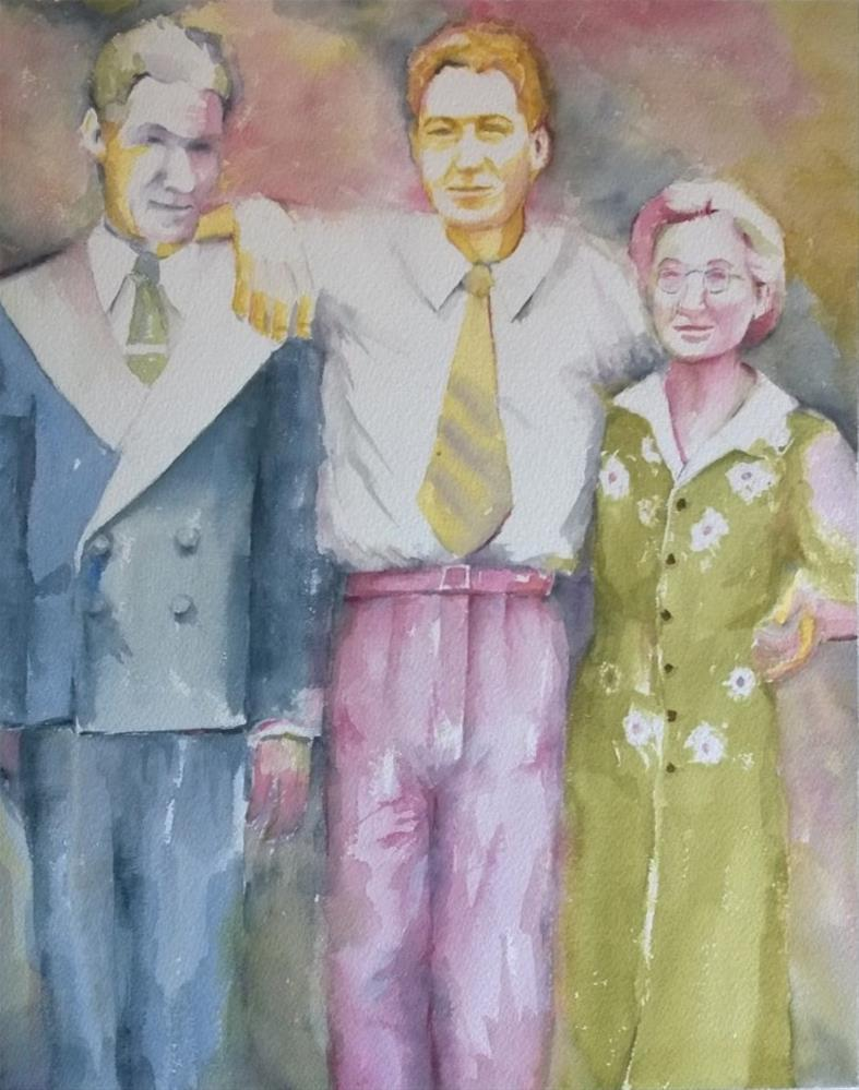 """""""My Dad and his Parents"""" original fine art by Crisynda Buss"""