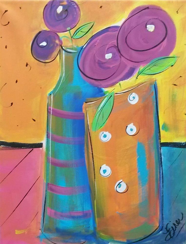 """""""Dance Party"""" original fine art by Terri Einer"""