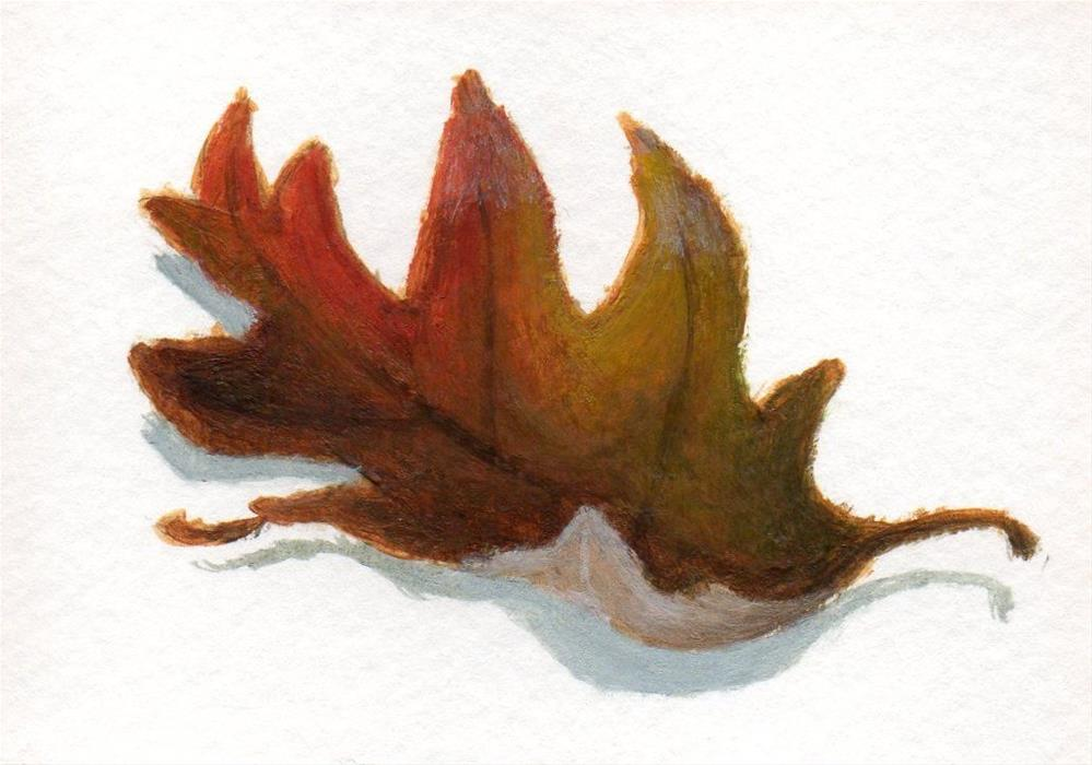 """Fallen  Leaves 4"" original fine art by Debbie Shirley"