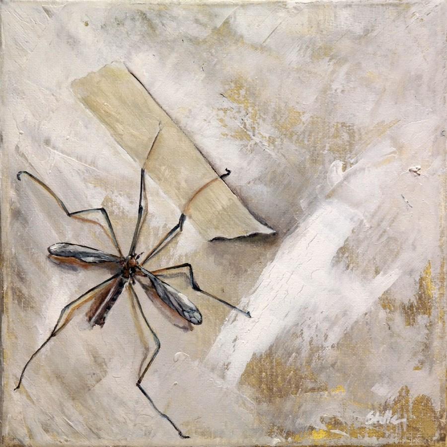 """""""1287 Crane Flies"""" original fine art by Dietmar Stiller"""