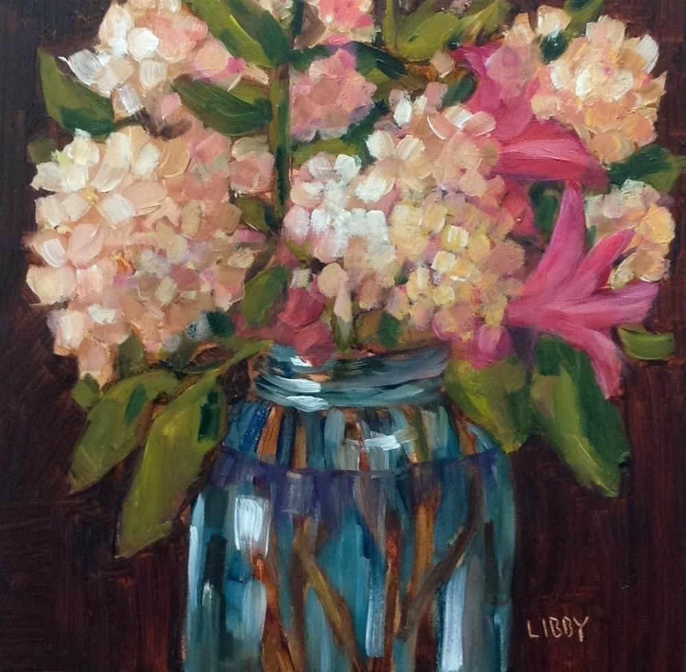 """""""In The Pink"""" original fine art by Libby Anderson"""