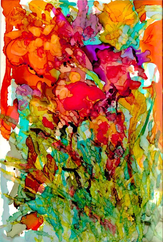 """""""Floral Abstract"""" original fine art by Kelly Alge"""