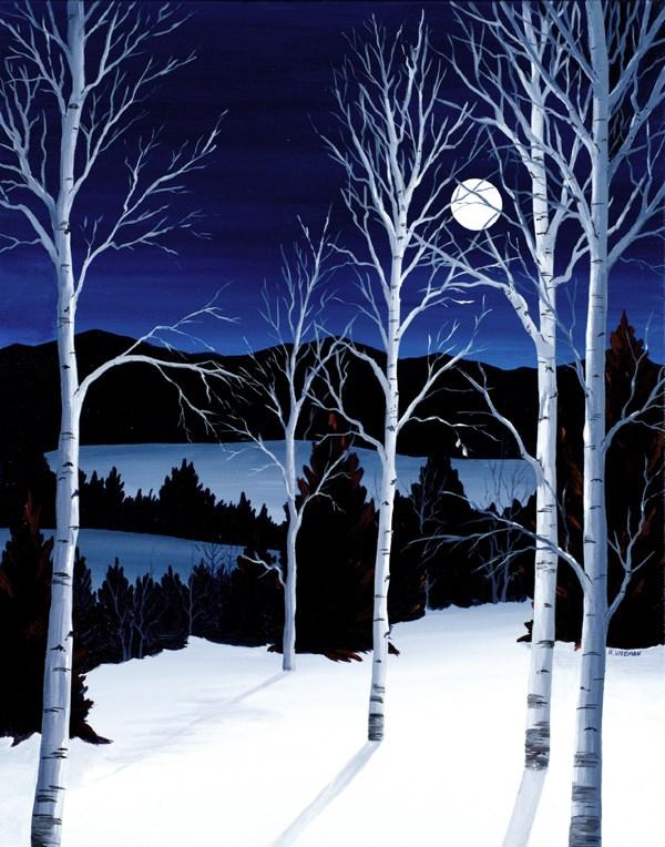 """""""Winter Moon"""" original fine art by Anna Vreman"""