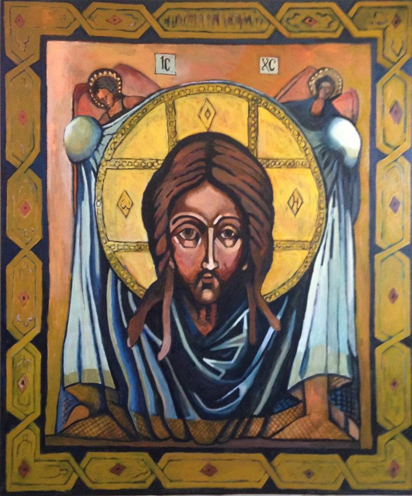 """Christ Icon Painting"" original fine art by Pamela Hoffmeister"