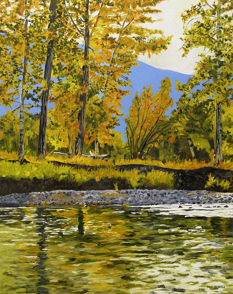 """""""October Reflections"""" original fine art by Andy Sewell"""