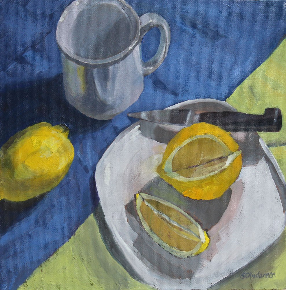 """Tea slice"" original fine art by Susan Andersen"