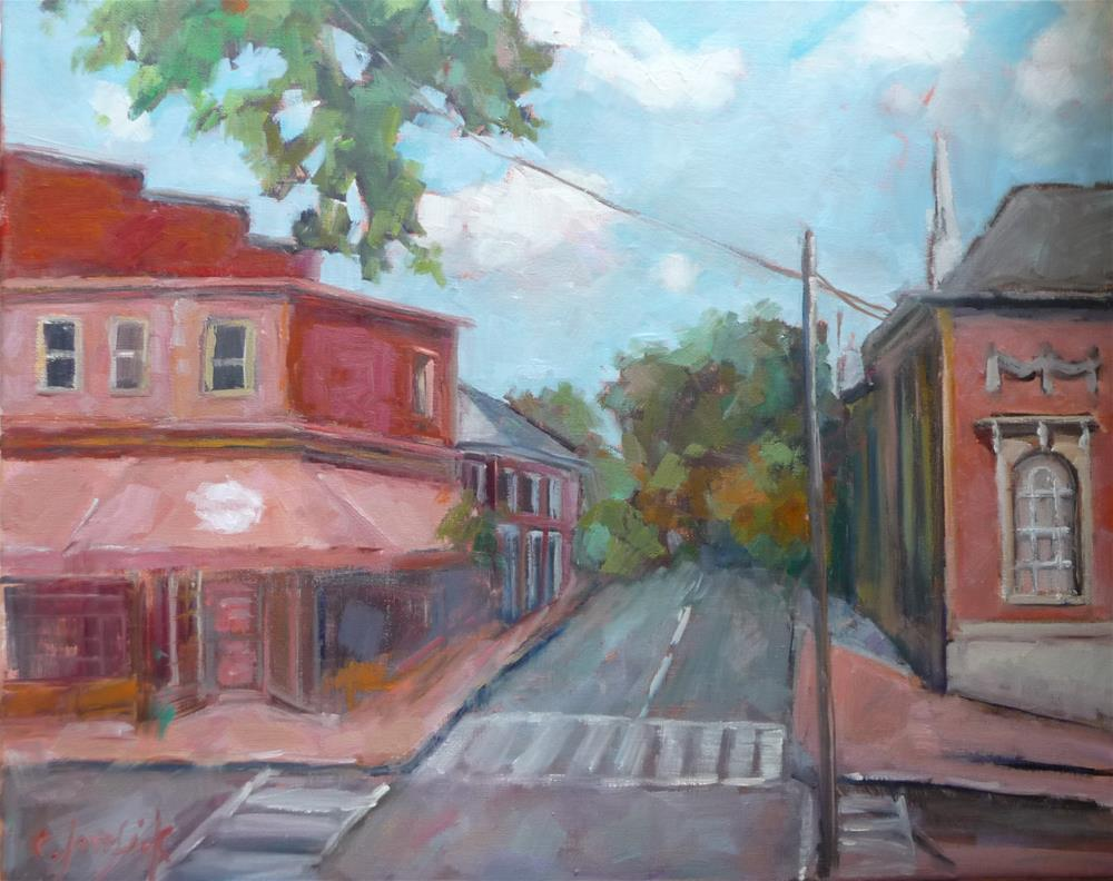 """Downtown"" original fine art by Carol Josefiak"
