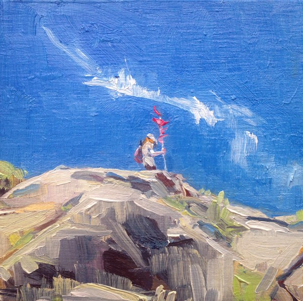 """Monhegan Explorer"" original fine art by Jessica Lee Ives"