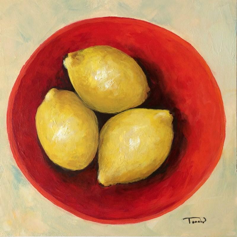 """""""Three Lemons"""" original fine art by Torrie Smiley"""