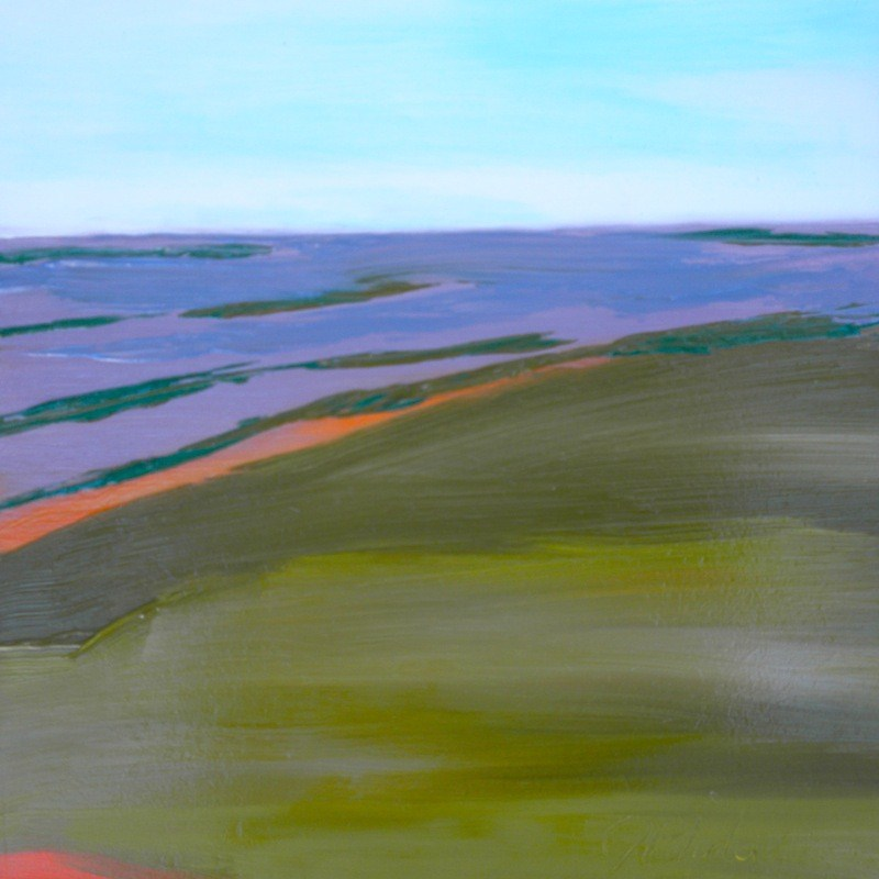 """Lavender Fields Forever"" original fine art by Janet Bludau"