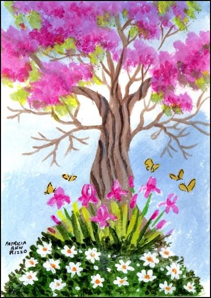 """""""The Orchid tree"""" original fine art by Patricia Ann Rizzo"""
