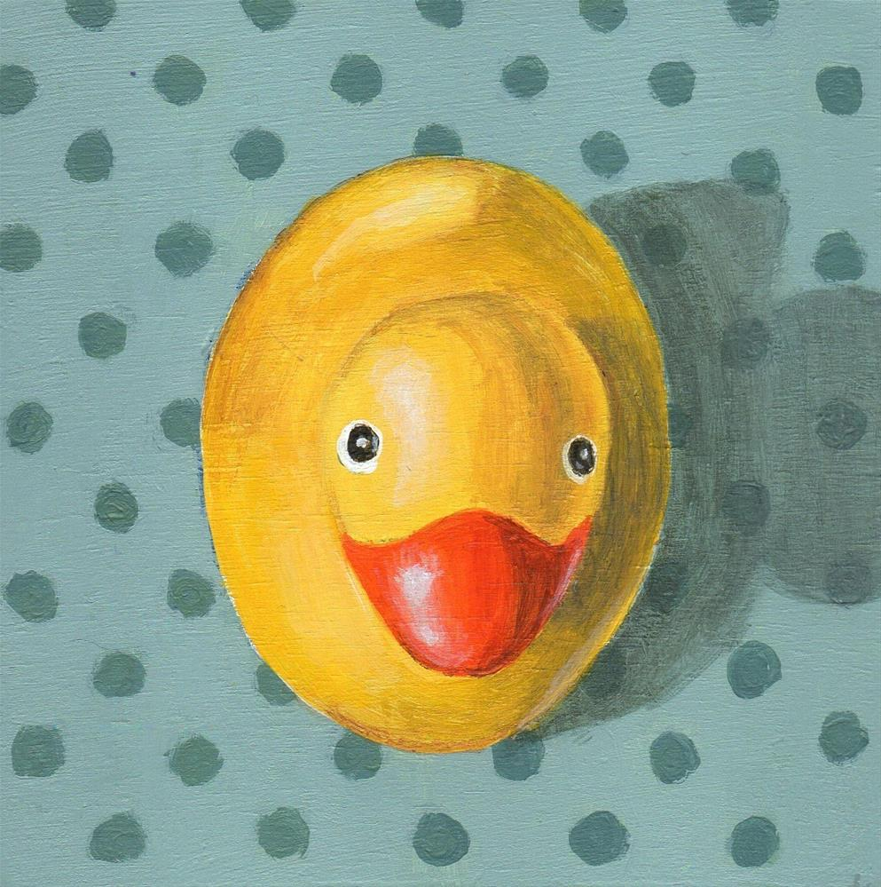 """Downward Duck"" original fine art by Debbie Shirley"