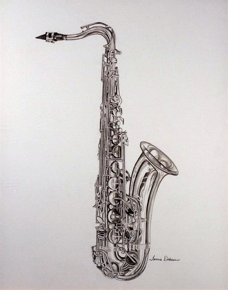 """The Sax"" original fine art by Tammie Dickerson"